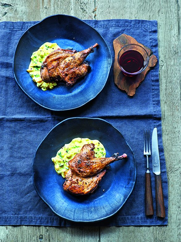 Grilled Pheasant with Mango