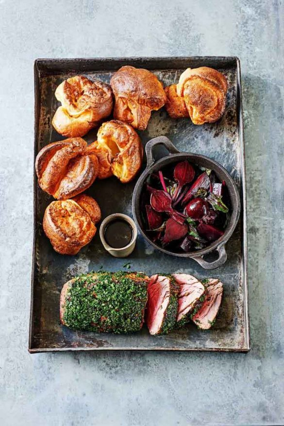 Herb-coated-Beef-with-Beetroots-&-Yorkshire-Puddings