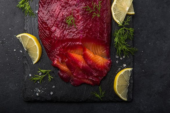 Beetroot and Gin Gravlax