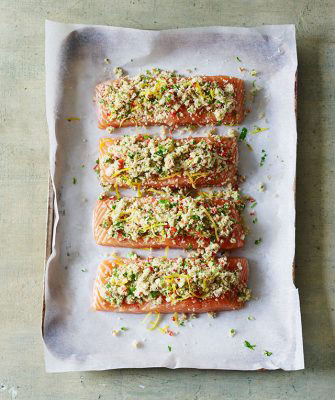 Chilli and Parsley Crusted Salmon