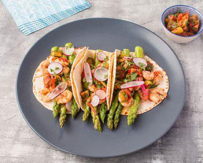 British-asparagus-and-prawn-tacos-with-a-tomato-salsa