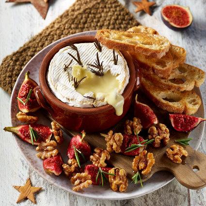 camembert, walnut, figs