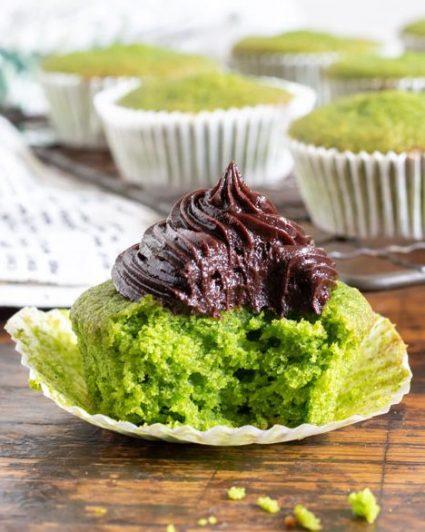 Chocolate Cavolo Nero cupcakes