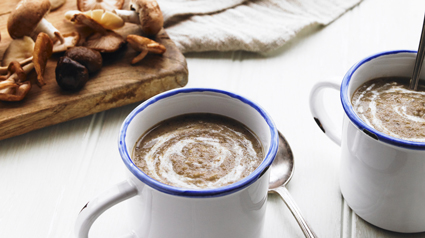 Wild Mushroom and Chestnut Soup