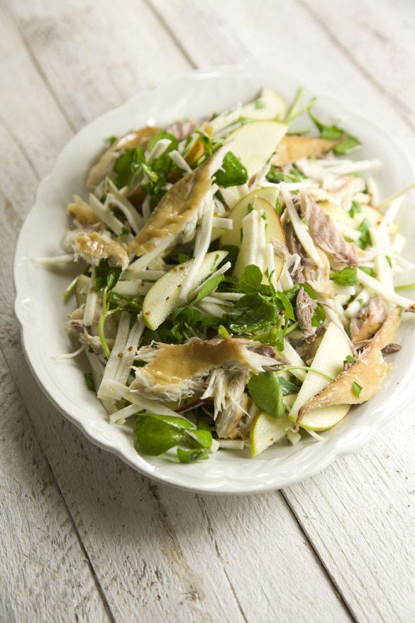 smoked mackerel celeriac watercress salad