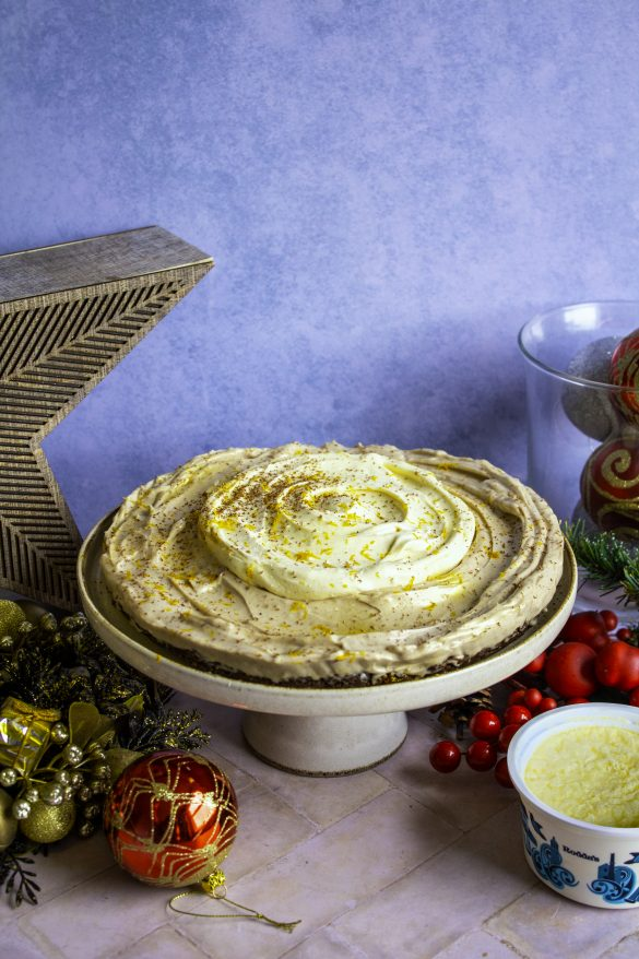 Recipe clotted cream egg nog cheesecake