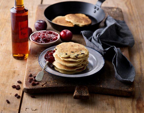 White Rye Rum and Raisin Pancakes